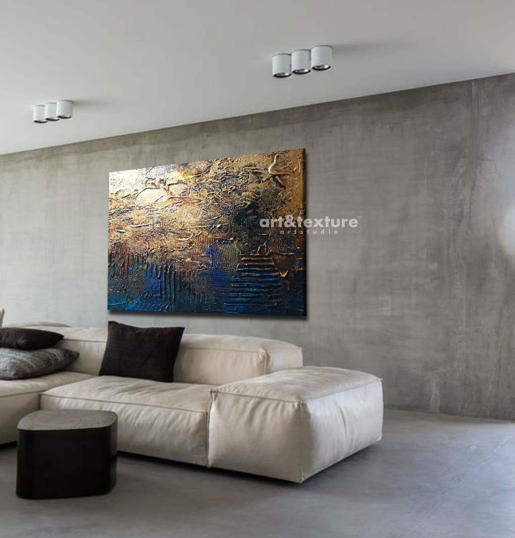 Industrialna Abstrakcja Abstrakcyjne Obrazy Do Modnego Salonu 100x150cm Obrazy Do Salonu